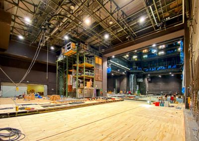 Bühnenboden sanieren, schleifen und versiegeln